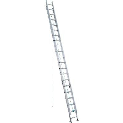 40 ft. Aluminum D-Rung Extension Ladder with 225 lb. Load Capacity Type II Duty Rating