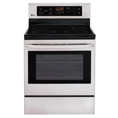 30 in. 6.3 cu. ft. Electric Range with Self-Cleaning in Stainless Steel