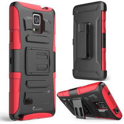 Prime Dual Layer Holster Case for Samsung Galaxy Note 4 - Red