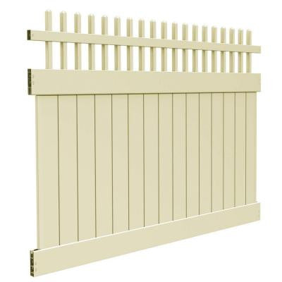 Potomac 6 ft. x 8 ft. Sand Vinyl Fence Panel Kit