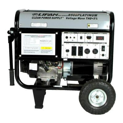 Platinum Series 8,500-Watt 420 cc Gasoline Powered Electric Start Clean Power Portable Generator with CARB
