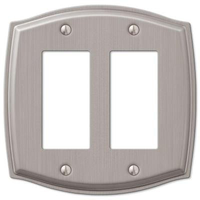 Sonoma 2 Gang Decora Wall Plate - Nickel