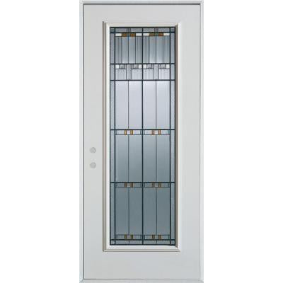 32 in. x 80 in. Architectural Full Lite Prefinished White Steel Prehung Front Door