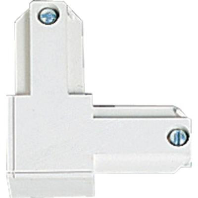 Alpha Trak White Track Lighting Connector - Outside Polarity Accessory