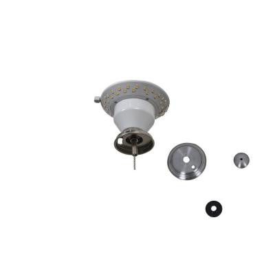 Carrolton II 52 in. LED Brushed Nickel Ceiling Fan Replacement Light Kit