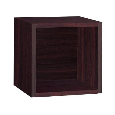 11.2 in. x 11.2 in. Espresso zBoard Wall Cube and Eco Decorative Shelf