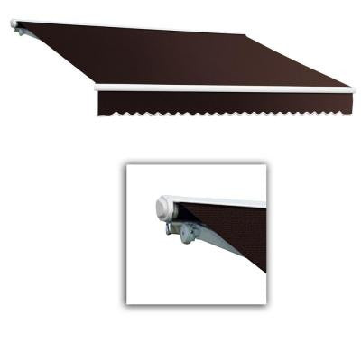 10 ft. Galveston Semi-Cassette Right Motor with Remote Retractable Awning (96 in. Projection) in Brown