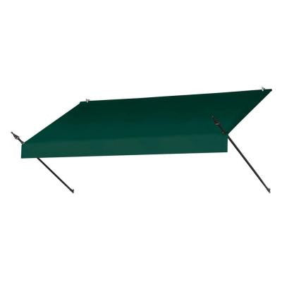8 ft. Designer Manually Retractable Awning (Projection 36.5 in.) in Forest Green