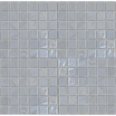 Gemstonez Chalcedony-1301 Mosiac Recycled Glass Mesh Mounted Floor and Wall Tile - 3 in. x 3 in. Tile Sample