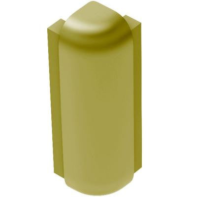 Rondec-Step Satin Brass Anodized Aluminum 1/2 in. x 2-3/4 in. Metal 90 Degree Outside Corner