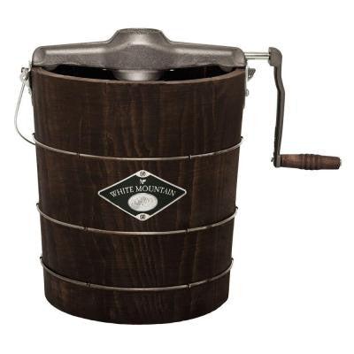 4 qt. Manual Ice Cream Maker in Brown