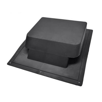 37 in. NFA High Impact Resin Super Low-Profile Slant Back Roof Vent in Black