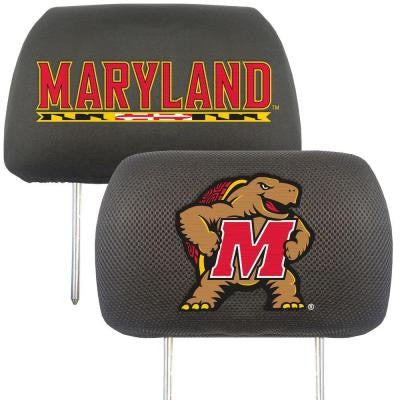 NCAA -University of Maryland Head Rest Cover (2-Pack)