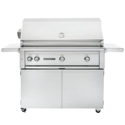 3-Burner Stainless Steel Natural Gas Grill with Rotisserie