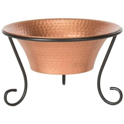 Rico 20 in. Hammered Iron Fire Pit in Copper and Black