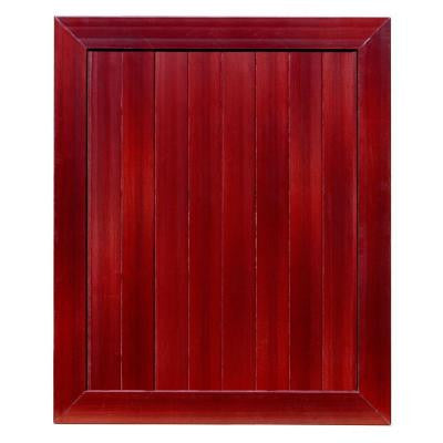 Pro Series 5 ft. x 6 ft. Mahogany Vinyl Anaheim Privacy Fence Gate