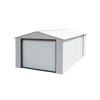 Imperial 12 ft. x 32 ft. Metal Garage Off-White with Brown