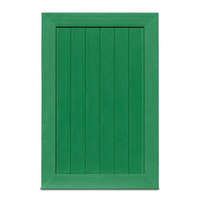 Pro Series 4 ft. x 6 ft. Green Vinyl Anaheim Privacy Fence Gate