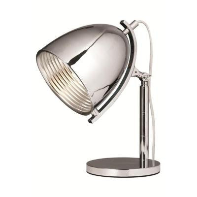 Industrial 17 in. Chrome Table Lamp