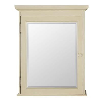 Cottage 23-5/8 in. W x 29 in. H Surface Mount Medicine Cabinet in Antique White