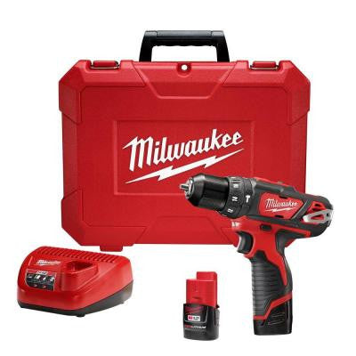 M12 12-Volt Lithium-Ion Cordless 3/8 in. Hammer Drill/Driver Kit