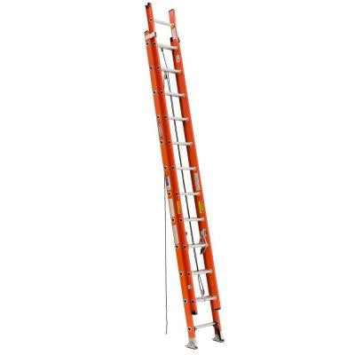 24 ft. Double Pulley Fiberglass Extension Ladder with 300 lb. Load Capacity Type IA Duty Rating