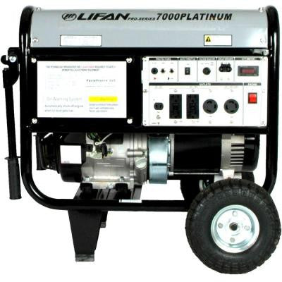 Platinum Series 7,000-Watt 389 cc Gasoline Powered Clean Power Portable Generator with CARB