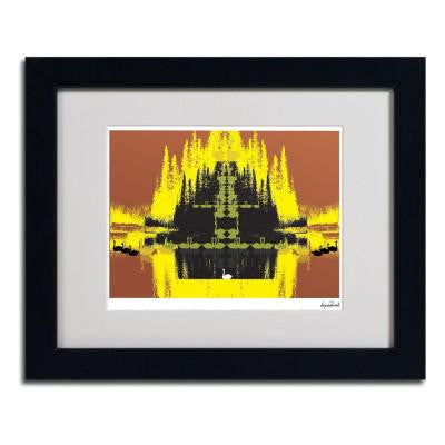 11 in. x 14 in. Yellow Trees Matted Framed Art