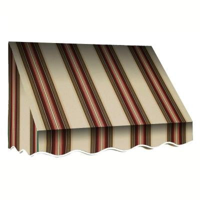 30 ft. San Francisco Window Awning (44 in. H x 24 in. D) in Brown/White Stripe