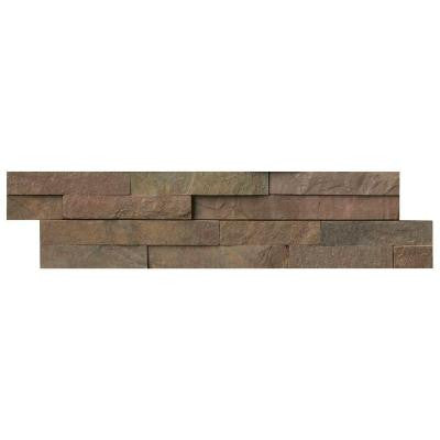 Copper Ledger Panel 6 in. x 24 in. Natural Quartzite Wall Tile (10 cases / 40 sq. ft. / pallet)