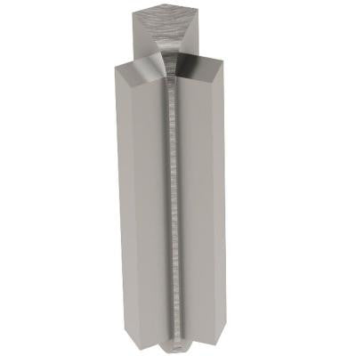 Rondec-Step Brushed Nickel Anodized Aluminum 1/2 in. x 2 in. Metal 135 Degree Inside Corner