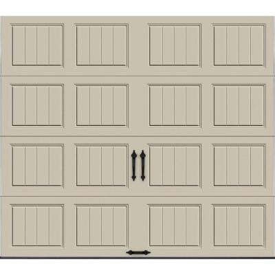 Gallery Collection 8 ft. x 7 ft. 6.5 R-Value Insulated Solid Desert Tan Garage Door