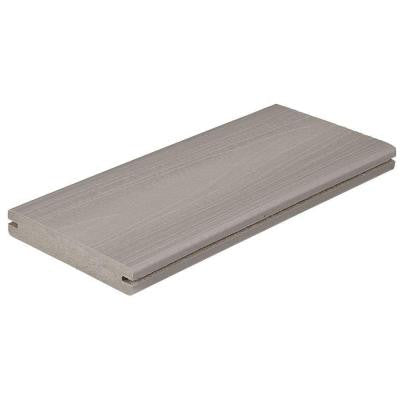 Horizon 1 in. x 5-1/4 in. x 16 ft. Greystone Grooved Edge Capped Composite Decking Board (56-Pack)