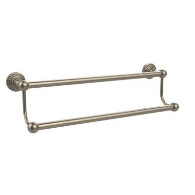 Waverly Place Collection 30 in. Double Towel Bar in Antique Pewter