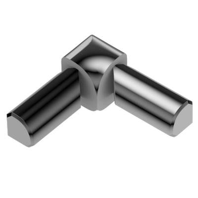 Rondec Polished Chrome Anodized Aluminum 5/16 in. x 1 in. Metal 90 Degree Double-Leg Inside Corner