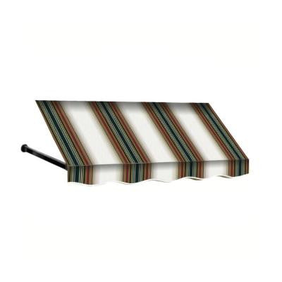 3 ft. Dallas Retro Window/Entry Awning (24 in. H x 36 in. D) in Burgundy/Forest/Tan Stripe