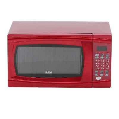 1.1 cu. ft. Countertop Microwave in Red