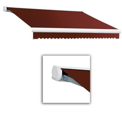 24 ft. Key West Full-Cassette Left Motor Retractable Awning with Remote (120 in. Projection) in Terra Cotta