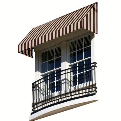 3 ft. New Yorker Window/Entry Awning (24 in. H x 42 in. D) in Brown / Tan Stripe