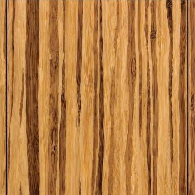 Strand Woven Tiger Stripe 3/8 in.Thick x 3-3/4 in.Wide x 36 in. Length Click Lock Bamboo Flooring (22.69 sq. ft. / case)