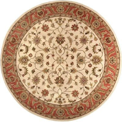 Morsse Golden Beige 8 ft. Round Area Rug