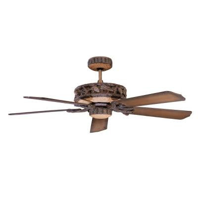 Zephyr 52 in. Old World Leather Indoor/Outdoor Ceiling Fan