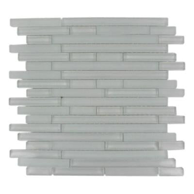 Temple Floes 12 in. x 12 in. x 8 mm Glass Mosaic Floor and Wall Tile