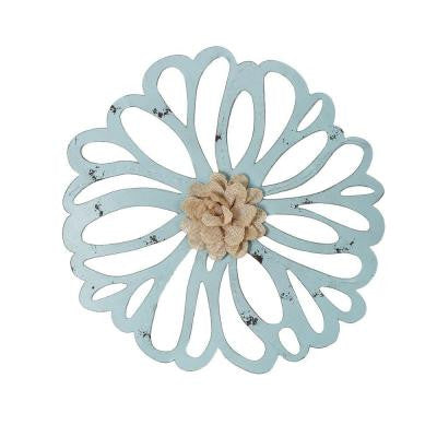 18 in. x 18 in. French Flower Iron Wall Decor