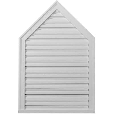 1-7/8 in. x 24-1/8 in. x 54-1/8 in. Functional Peaked Gable Vent