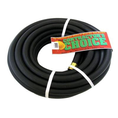 Endurance 3/4 in. Dia x 100 ft. Industrial-Grade Black Rubber Water Hose
