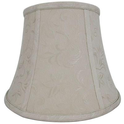 Mix & Match Beige with Shadow Embroidery Round Bell Table Lamp Shade