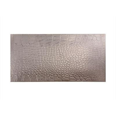 Cayman 96 in. x 48 in. Decorative Wall Panel in Brushed Nickel