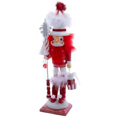 18 in. Hollywood Red and White Stripe Nutcracker