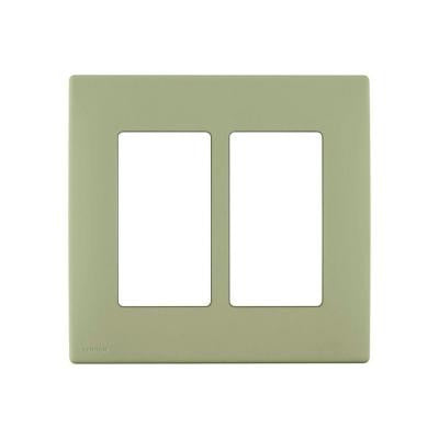Renu 2-Gang Screwless Snap-On Wall Plate - Prairie Sage